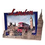 I Love London Photo Frame - Metal Photo Frame - London Souvernir Photo Frame - London Icons Metal Photo Frame - Big Ben, Tower Bridge London Eye - Medium Size