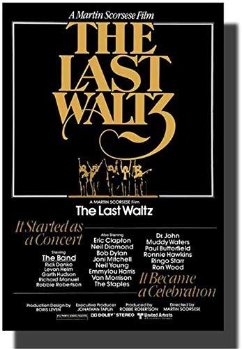 The Last Waltz Movie Poster SS 2002 réédite l'affiche d'art Martin Test impression sur toile photos pour salon œuvre d'art chambre photos décor à la maison -50x75cm sans cadre