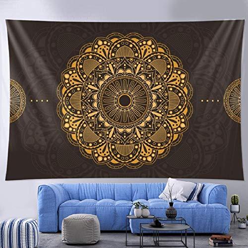 Tapiz de mandala tapiz colgante de pared decoración del hogar bohemia hoja de decoración de pared yoga mat-150x100cm