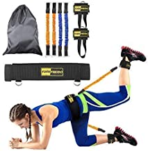 TOCO FREIDO Booty Resistance Bands Workout Program, Lift & Tone Your Perfect Butt, Ideal Resistance Bands for Legs and Butt, Speed Trainer