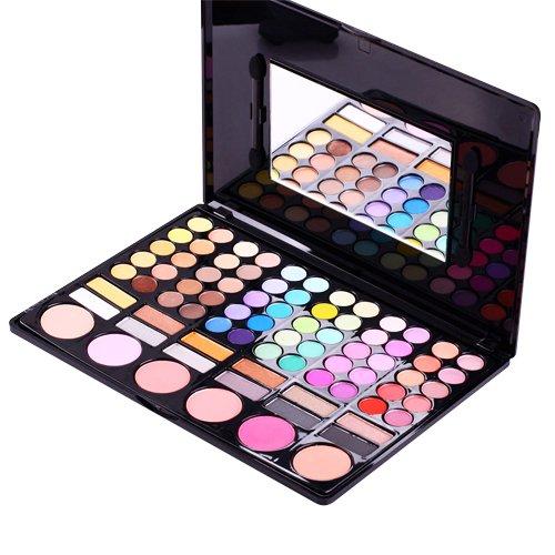 Accessotech 78 colori ombretto palette trucco set trucco box con specchio