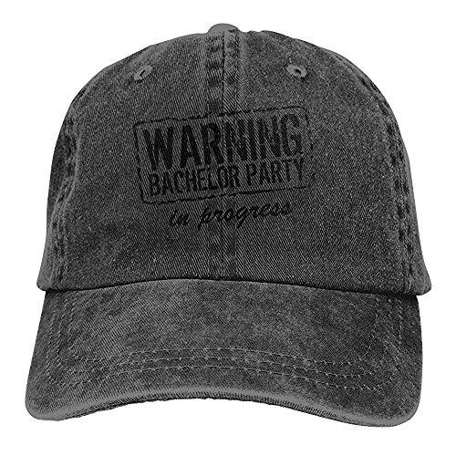 Sombrero de papá Unisex Advertencia Despedida de Soltero en Curso Gorra de béisbol Vintage Sombreros de Camionero Denim Ajustable Chic