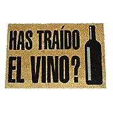 koko doormats Felpudo de Vino y Cerveza para Entrada de Casa Original y Divertido/Fibra Natural de Coco con Base de PVC, 40x60 cm (Has traído el Vino?)