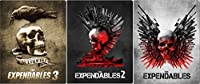 Expendables Steelbook Set 1/2/3 Exclusive Blu Ray Limited Edition Metal Pack Three Movie set
