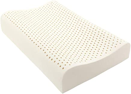 TAIHIラテックス枕、100%天然ラテックス枕 高反発枕 安眠枕 ダニ防止 いびき防止 頸部の痛みを和らげる 洗える 通気性抜群 … (天然ラテックス枕)