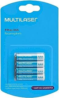 Pilhas Recarregáveis Multilaser Aaa 1000mah 4 Unidades Cb050
