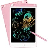 NOBES LCD Writing Tablet, 10-Inch Drawing Tablet Kids Tablets Doodle Board, Colorful Drawing Board Gifts for Kids and Adults at Home, School and Office (Pink)