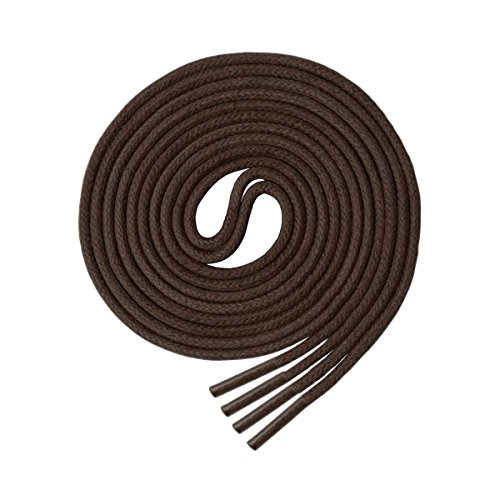 Waxed Round Shoelaces(3 Pairs) - for Oxford Dress Boots Leather Shoe Laces (32' inches (81 cm), Brown)