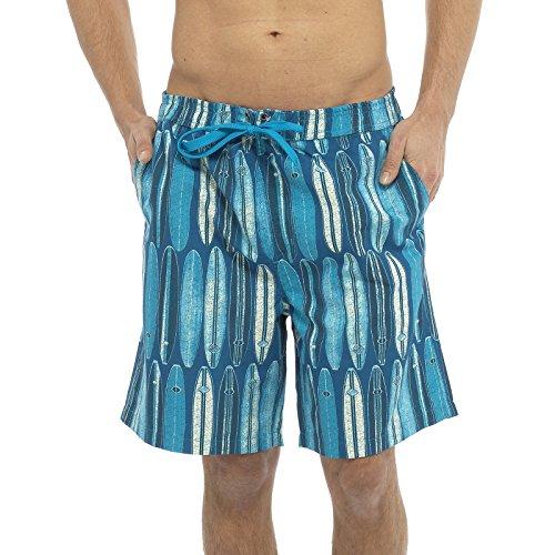 Tom Franks - Short de Bain - Homme Bleu Bleu XX-Large