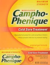 Campho-Phenique Cold Sore Treatment, Maximum Strength, Original Gel Formula, 0.23 Fl Oz (Packaging May Vary)