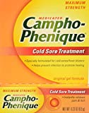 Campho-Phenique Cold Sore Treatment, Maximum Strength, Original Gel Formula, Orange, No Flavour, 0.23 Oz