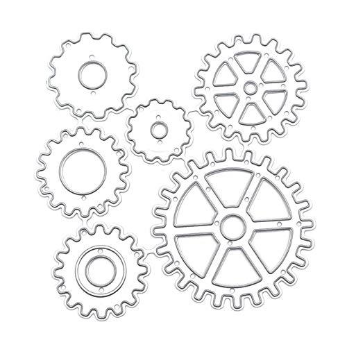 Lamdoo Puzzle Plantilla de Engranaje en Relieve Troqueles de Corte de Acero al Carbono DIY Scrapbooking Photo