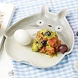 Japanese Cute Ceramic Bowl Cartoon Porcelain Tableware Fruit Salad Bowl Totoro Pattern Bowl Microwave Tablewar