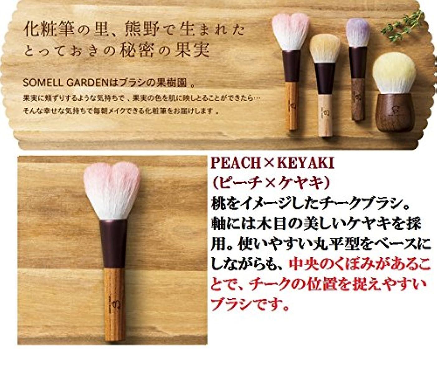 腸誓うスワップ広島県 熊野化粧筆 SOMELL GARDEN ブラシシリーズ (ピーチ×ケヤキ)