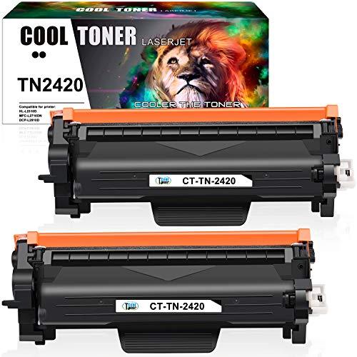 Cool Toner Cartuccia toner Compatibile In sostituzione di Brother TN-2420 TN2420 TN2410 Brother MFC-L2710DW MFC-L2710DN HL-L2350DW HL-L2310D MFC-L2730DW MFC-L2750DW DCP-L2510D (Nero, confezione da 2)