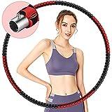 Gkodeamig Fitness Exericise Hoop - Aro de aro para la pérdida de peso, núcleo de acero inoxidable estable con espuma premium, comodidad y larga vida útil, color rosa