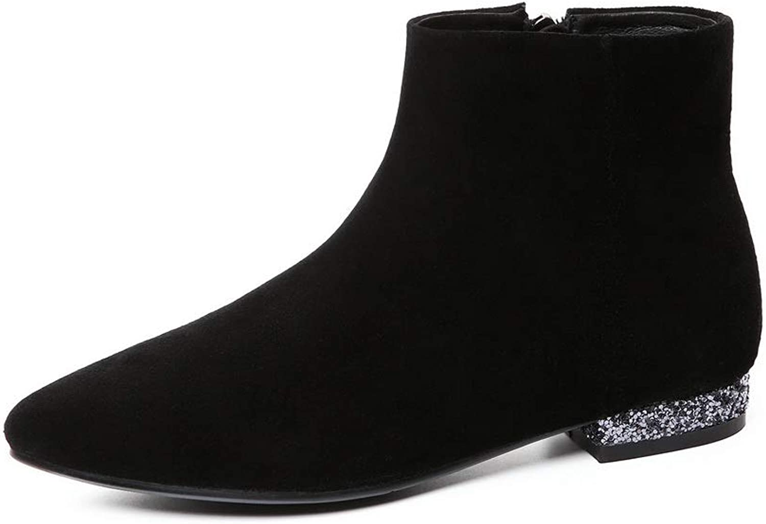 AN Womens Nubuck Warm Lining Solid Urethane Boots DKV02972