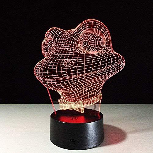 GEZHF Frosch 3D-Licht LED-Berührungssensor Nachtlicht Nachtlicht Elektronisches Geschenk USB-Licht 3D-Druck LED-Nachtlicht s Licht Stimmungslicht Lampe Frauen Nachtlichter Kinder Nachtlicht Licht