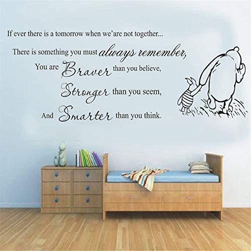 Winnie l'ourson Wall Decal winnie l'ourson vous braver plus fort decal decor Nursery enfants Cartoon Cute