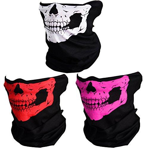 CIKIShield Couples Seamless Skull Face Tube Black (3pcs-Color Set-C)