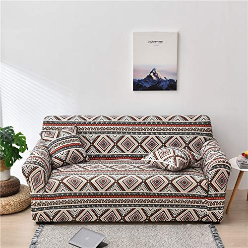 PPMP Funda de sofá elástica Floral Fundas de sofá para Sala de Estar Protector de Muebles de poliéster Fundas Funda de sofá A14 2 plazas