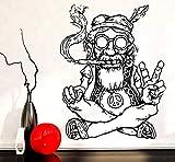 ZKRZ Wandtattoo Wandaufkleber Smoking Weed Marihuana Frieden Abnehmbare Hippie In Gläsern Symbol Ethnischen Dekor 57 * 84Cm