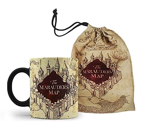 Caneca Mágica + Saquinho Harry Potter Mapa Do Maroto - Mega Oferta!!!