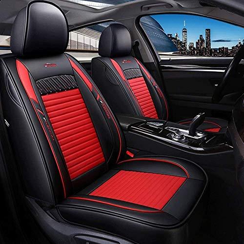 SAMER Auto Stoelhoezen Voorste Paar Universele Autostoel Beschermers voor Bestuurder en Passagier Air Bag Compatibele Automotive Accessories Interieur Rood
