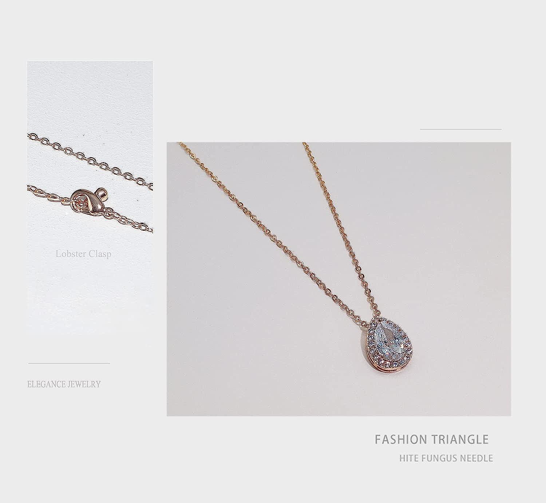 UDORA Zirconia Teardrop Necklace Earrings Bracelet Jewelry Set Wedding Party Prom