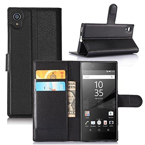 Sony Xperia Z6 Hülle,Manyip PU Flip Leder Tasche Hülle Hülle Cover Handytasche Schutzhülle Etui Skin Für Sony Xperia Z6,Wallet mit Kartenfächer Design Schutz Protektiv Hülle Etui