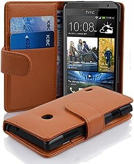 Fodral kompatibelt med HTC Desire 300 i COGNAC BRUN - Skyddsfodral av strukturerat syntetiskt Läder med Stativfunktion och...
