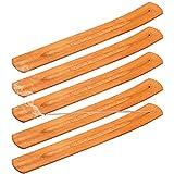 Xinzistar 5 Stück Räucherstäbchen Halter Bambus Holz Räucherstäbchenhalter Weihrauch Brenner Asche Fänger Ash Catcher Räucher ZubehörHome Fragrance Decor