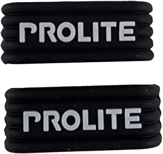 Prolite Grip Bands - Holds Your Grip in Place - 2 Pack - One Size Fits All - Perfect for Pickleball Paddles, Tennis & Racquetball Racquets - Black Silicone Band w/Embossed Prolite Logo On Both Sides