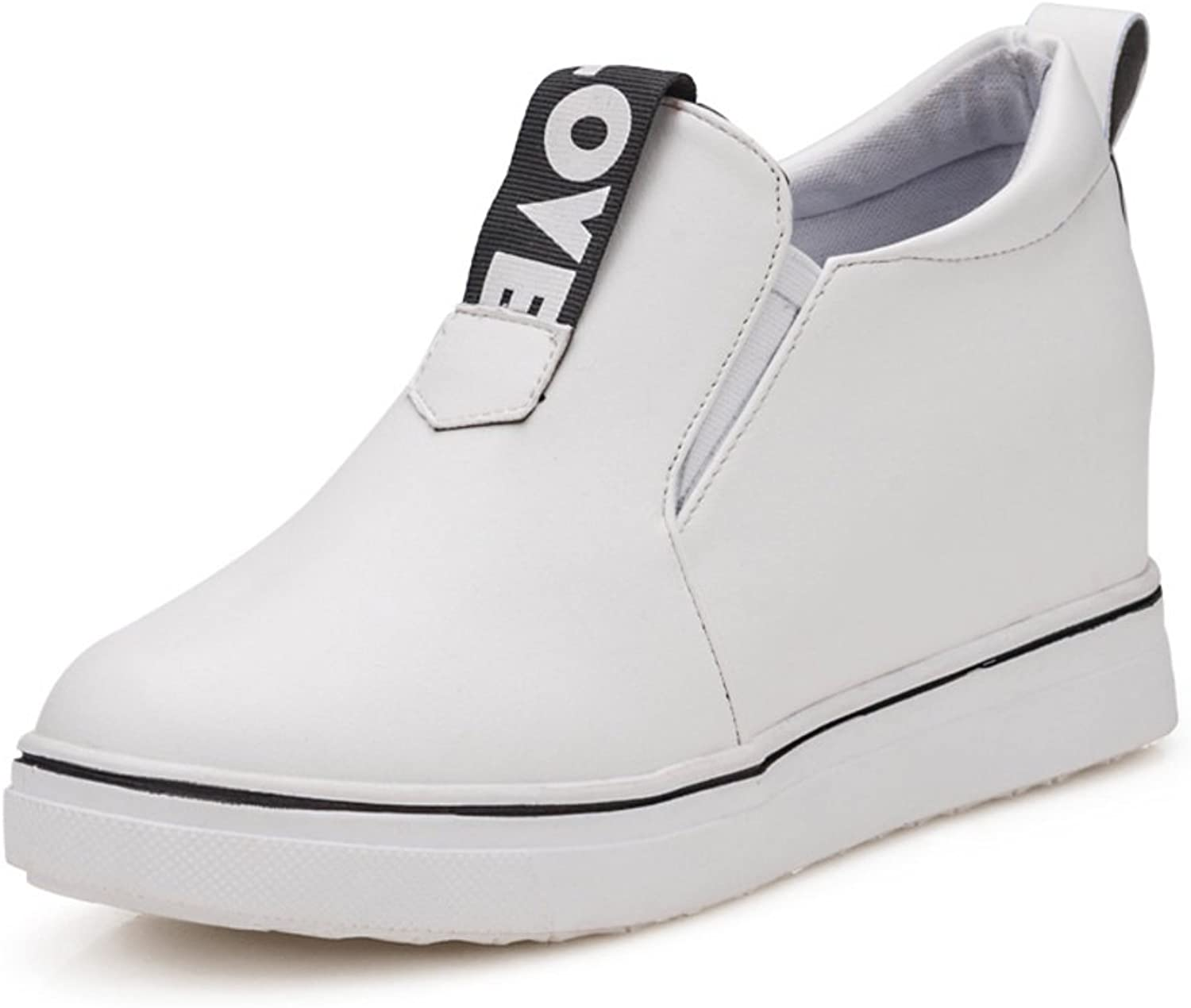Thick-soled casual shoes in spring shoes with invisible high-heel