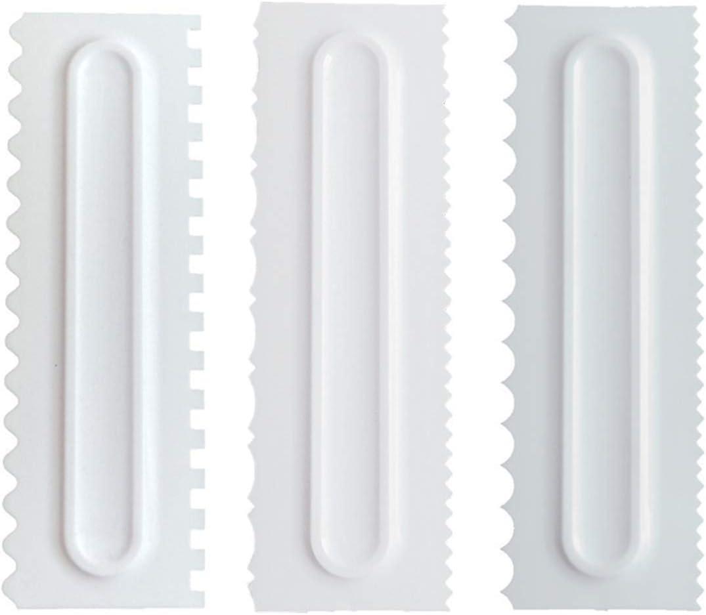 Raspador de Crema Ajustable para Decoraci/ón de Pasteles Herramienta para Alisar Los Bordes 5PCS para Hornear DIY FANDE Raspador de Pastel Esp/átula de Pl/ástico para Pasteles Esmalte Alisador
