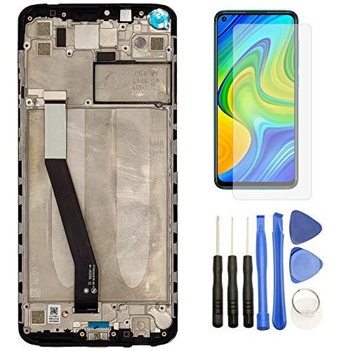 Hypak Pantalla IPS LCD para Xiaomi Redmi Note 9 (Completa con Marco) Repuesto Cristal Tactil Digitalizador