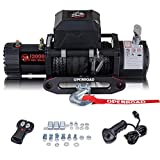 OPENROAD 13000Lbs 12 Volts Electric Winch, Winch for Truck/4×4, 13000Lbs/5896kg Electric Winch Kit, With 26m/85ft Winch Synthetic Rope, Towing Off-Road Electric Winch Recovery kit (13000Lbs Black)