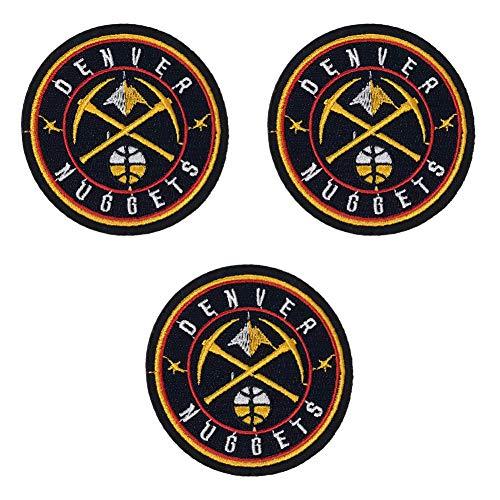 3 x Basketball-Team-Logo-Aufnäher zum Aufbügeln oder Aufnähen, bestickter Aufnäher für Jacken, Rucksäcke, Jeans und Kleidung