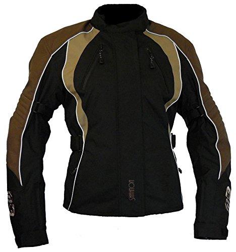 Protect Wear Chaqueta de Motorista, Textil chaqueta para mujer, Brown, Tamaño 48/50
