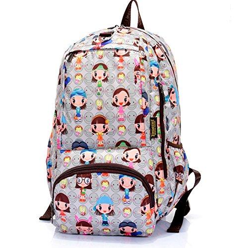 Sincere® Fashion Backpack / Zipper Sacs à dos / Rue mode / Multifonction / Mode schoolbag / loisirs sac à main / polyester sac imperméable à l'eau 6