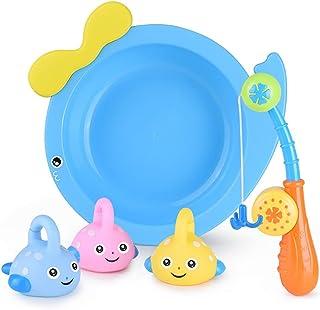 Dorakitten Fishing Toy Set Assorted 5PCS Bathtub Fishing Game Squirter Toy Fishing Rod Toy Bath Bathroom Swimming Pool Shower