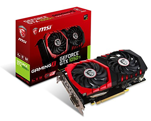 MSI GeForce GTX 1050 Ti GAMING X, 4GB GDDR5 (128 Bit), HDMI,, GTX_1050_TI_GAMING_X_4G (4GB GDDR5 (128 Bit), HDMI, DVI, DP)