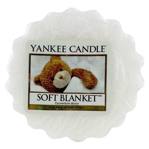 YANKEE CANDLE Soft Blanket Tart da Fondere, Cera, Bianco, 2x5.7x5.5 cm