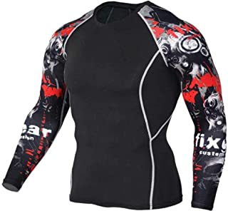 Long Sleeve Black Compression Top Mens Fitted Shirts