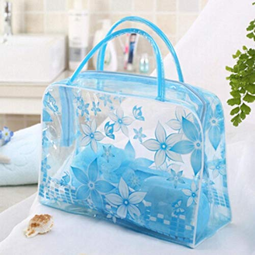 BLI 1pc Waterproof Cosmetic Bag Envelope Storage Cosmetic Bag Skin Care Cosmetic Bag Storage Bag 5 Colors Blue