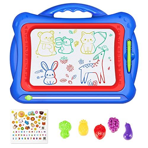 Geekper, Lavagna Magnetica Magna Doodle Scribble Board 41 x 33 cm Magna Doodle Pad con 5 francobolli e Grazioso Adesivo per Bambini Scrivere Schizzo Pad