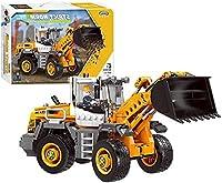 YQDSY Mr.Lqエンジニアリングカーシリーズビルディングブロック - Forklift Loader組み立てられた小粒子ビルディングブロック子供の教育玩具 鮮やかな色でヌル / 694PCS