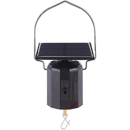 Black YARNOW Windspinner Solar Motor Plastic Electric Hanging Solar Rotating Motor for Wind Chimes Windbell Outdoor Decor Garden Hanging Accessory
