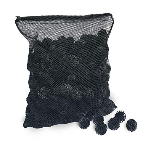 Aquatic Experts Bio Balls Filter Media with Mesh Bag - 300 Count - 1.5 Inch Large Bio Ball for Pond Filter with Mesh Bag - Perfect Bio Balls for Pond Filter Media – Made in The USA