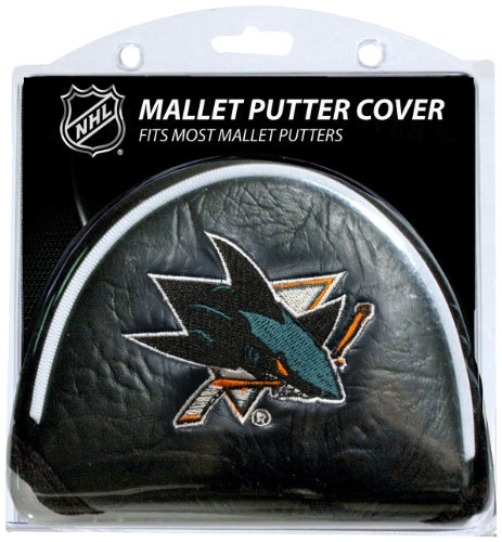Team Golf NHL San Jose Sharks Golf Club Mallet Putter Headcover, Fits Most Mallet Putters, Scotty Cameron, Daddy Long Legs, Taylormade, Odyssey, Titleist, Ping, Callaway